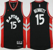 Wholesale Cheap Men's Toronto Raptors #15 Anthony Bennett Revolution 30 Swingman 2015-16 New Black Jersey