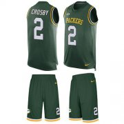 Wholesale Cheap Nike Packers #2 Mason Crosby Green Team Color Men's Stitched NFL Limited Tank Top Suit Jersey