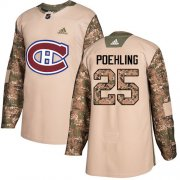Wholesale Cheap Adidas Canadiens #25 Ryan Poehling Camo Authentic 2017 Veterans Day Stitched Youth NHL Jersey