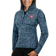 Wholesale Cheap Montreal Canadiens Antigua Women's Fortune 1/2-Zip Pullover Sweater Royal