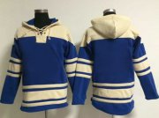 Wholesale Cheap Blue Jays Blank Blue Sawyer Hooded Sweatshirt MLB Hoodie