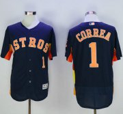 Wholesale Astros #1 Carlos Correa Navy Blue Flexbase Authentic Collection Stitched Baseball Jersey