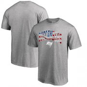 Wholesale Cheap Men's Tampa Bay Buccaneers Pro Line by Fanatics Branded Heathered Gray Banner Wave T-Shirt