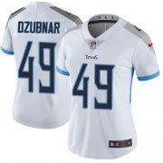Wholesale Cheap Nike Titans #49 Nick Dzubnar White Women's Stitched NFL Vapor Untouchable Limited Jersey