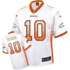 Wholesale Cheap Nike Broncos #10 Emmanuel Sanders White Youth Stitched NFL Elite Drift Fashion Jersey