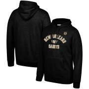 Wholesale Cheap New Orleans Saints Mitchell & Ness Team History Pullover Hoodie Black