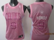 Wholesale Cheap Boston Celtics #9 Rajon Rondo Pink Womens Jersey