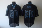 Wholesale Cheap Lions #90 Ndamukong Suh Lights Out Black Stitched NFL Jersey