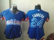Wholesale Cheap Tigers #24 Miguel Cabrera Blue 2013 All-Star Women's Stitched MLB Jersey