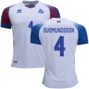 Wholesale Cheap Iceland #4 Gudmundsson Away Soccer Country Jersey