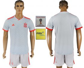 Wholesale Cheap Spain Blank Away Soccer Country Jersey