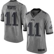 Wholesale Cheap Nike Eagles #11 Carson Wentz Gray Men's Stitched NFL Limited Gridiron Gray Jersey