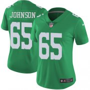 Wholesale Cheap Nike Eagles #65 Lane Johnson Green Women's Stitched NFL Limited Rush Jersey