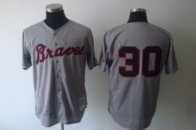 Wholesale Mitchell And Ness 1969 Braves #30 Orlando Cepeda Grey Stitched Baseball Jersey