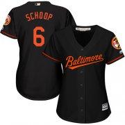 Wholesale Cheap Orioles #6 Jonathan Schoop Black Alternate Women's Stitched MLB Jersey