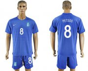 Wholesale Cheap Greece #8 Petsos Away Soccer Country Jersey