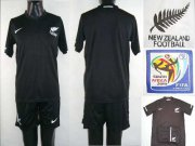 Wholesale Cheap New Zealand Blank Black Away Soccer Country Jersey