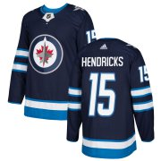 Wholesale Cheap Adidas Jets #15 Matt Hendricks Navy Blue Home Authentic Stitched NHL Jersey