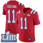 Wholesale Cheap Nike Patriots #11 Julian Edelman Red Alternate Super Bowl LIII Bound Men's Stitched NFL Vapor Untouchable Limited Jersey