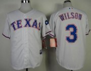 Wholesale Cheap Rangers #3 Russell Wilson White Cool Base Stitched MLB Jersey
