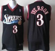 Wholesale Cheap Philadelphia 76ers #3 Allen Iverson Revolution 30 Swingman Black Jersey