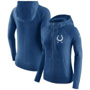 Wholesale Cheap Indianapolis Colts Nike Women's Gym Vintage Full-Zip Hoodie Royal
