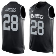 Wholesale Cheap Nike Raiders #28 Josh Jacobs Black Team Color Men's Stitched NFL Limited Tank Top Jersey
