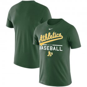 Wholesale Cheap Oakland Athletics Nike Practice Performance T-Shirt Green