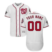 Wholesale Cheap Washington Nationals Majestic 2019 World Series Champions Home Authentic Flex Base Custom Jersey White