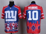 Wholesale Nike Giants #10 Eli Manning Blue Men's Stitched NFL Elite Noble Fashion Jersey