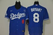 Wholesale Cheap Los Angeles Dodgers #8 Kobe Bryant Men's Nike Royal Authentic KB Patch MLB Jersey