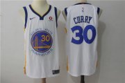 Wholesale Cheap Men's Golden State Warriors #30 Stephen Curry White 2017-2018 Nike Swingman Stitched NBA Jersey