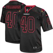 Wholesale Cheap Nike Cardinals #40 Pat Tillman Lights Out Black Men's Stitched NFL Elite Jersey