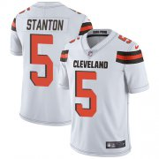 Wholesale Cheap Nike Browns #5 Drew Stanton White Men's Stitched NFL Vapor Untouchable Limited Jersey