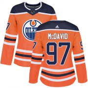 Wholesale Cheap Adidas Oilers #97 Connor McDavid Orange Home Authentic Women's Stitched NHL Jersey