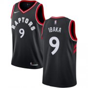 Wholesale Cheap Nike Raptors #9 Serge Ibaka Black NBA Swingman Statement Edition Jersey