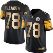 Wholesale Cheap Nike Steelers #78 Alejandro Villanueva Black Men's Stitched NFL Limited Gold Rush Jersey