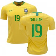 Wholesale Cheap Brazil #19 Willian Home Kid Soccer Country Jersey