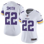 Wholesale Cheap Nike Vikings #22 Harrison Smith White Women's Stitched NFL Vapor Untouchable Limited Jersey