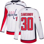 Wholesale Cheap Adidas Capitals #30 Ilya Samsonov White Road Authentic Stitched Youth NHL Jersey