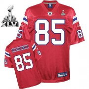Wholesale Cheap Patriots #85 Chad Ochocinco Red Alternate Super Bowl XLVI Embroidered NFL Jersey