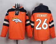 Wholesale Cheap Denver Broncos #26 Darian Stewart Orange Player Pullover NFL Hoodie