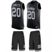 Wholesale Cheap Nike Raiders #20 Damon Arnette Black Team Color Men's Stitched NFL Limited Tank Top Suit Jersey