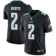Wholesale Cheap Nike Eagles #2 Jalen Hurts Black Alternate Youth Stitched NFL Vapor Untouchable Limited Jersey