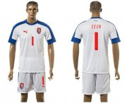 Wholesale Cheap Czech #1 Cech Away Soccer Country Jersey