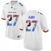 Wholesale Cheap Boise State Broncos 27 Jay Ajayi White With Portrait Print College Football Jersey