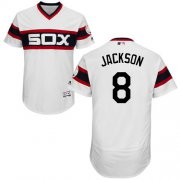 Wholesale Cheap White Sox #8 Bo Jackson White Flexbase Authentic Collection Alternate Home Stitched MLB Jersey