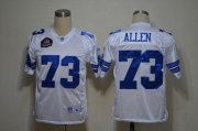Wholesale Cheap Cowboys #73 Larry Allen White Legend Throwback Stitched NFL Jersey
