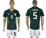 Wholesale Cheap Mexico #5 A.Reyes Green Home Soccer Country Jersey