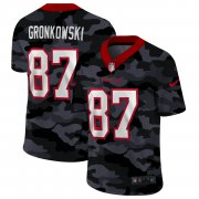 Cheap Tampa Bay Buccaneers #87 Rob Gronkowski Men's Nike 2020 Black CAMO Vapor Untouchable Limited Stitched NFL Jersey